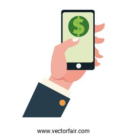 online money payment with smartphone