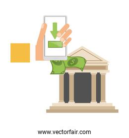 money transfer with smartphone to smartphone bank app