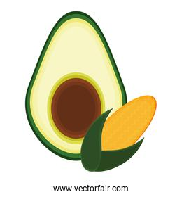 vegetables avocado and corn food