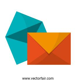 envelopes and mail symbol
