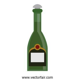 Champagne bottle drink isolated
