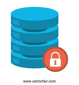 database with security locked