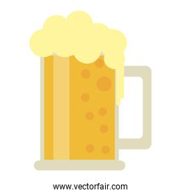 Beer cold cup isolated