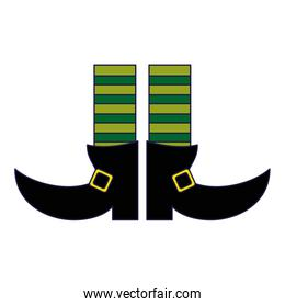 Elf legs boots with socks blue lines