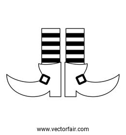 Elf legs boots with socks black and white