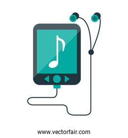 music player mp3 with earphones