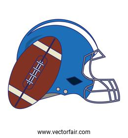 American football game blue lines