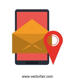 smartphone email sending and gps location pin