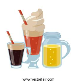 Cold and delicious drinks