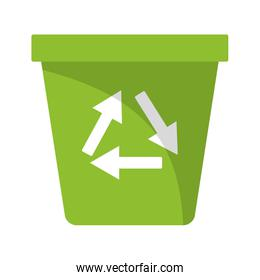 Recycle trash can symbol
