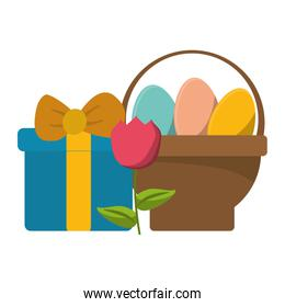 Easter day cute cartoons