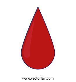 blood drop symbol isolated