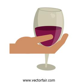 hand holding wine cup