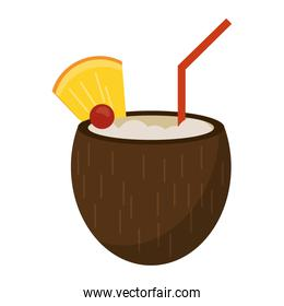 Coconut tropical cocktail