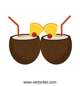 Coconuts tropical cocktails