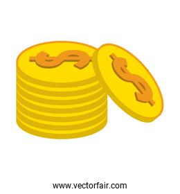 money coins stacked symbol