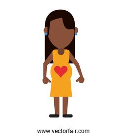 mom pregnant with heart in stomach avatar