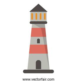 Lighthouse building symbol isolated