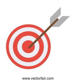 Target dartboard symbol isolated