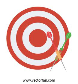 Dartboard with bow arrows