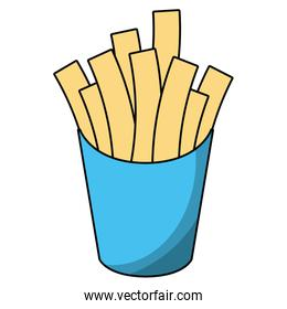 French fries box cartoon