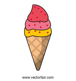 Ice cream cone with scoops