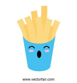 French fries box kawaii cartoon