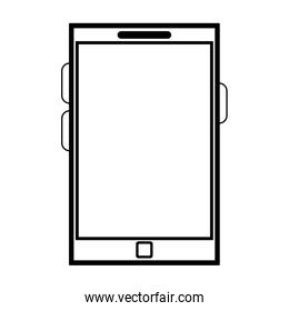 Smartphone mobile technology black and white