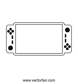 Videogame console portable technology black and white