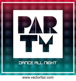 Party poster design background