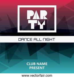 party advertising card design