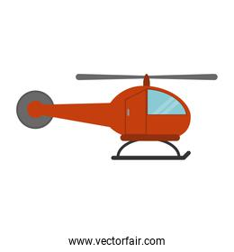 Helicopter aircraft symbol sideview