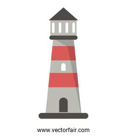 Beach lighthouse symbol cartoon