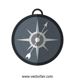 Compass navigation symbol isolated