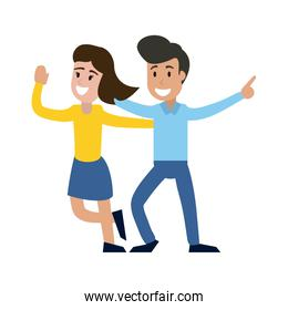 Couple dancing and smiling