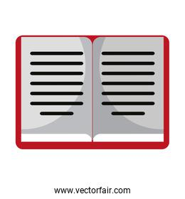isolated book open symbol isolated