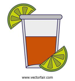 Tequila shot cup symbol