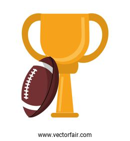 American football trophy cup