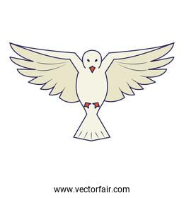 Dove bird flying cartoon
