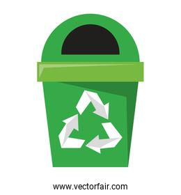 Trash can recycle symbol