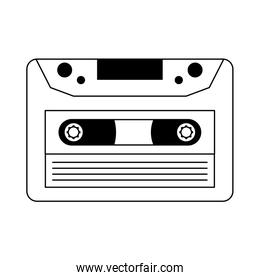 old music cassette, line style icon