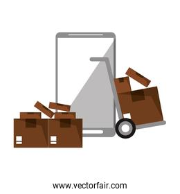 Online delivery from smartphone