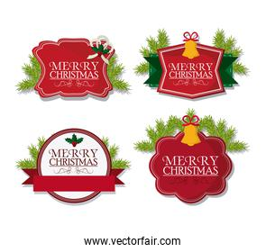 merry christmas labels design
