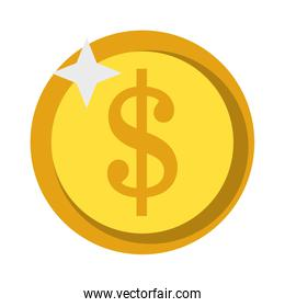 Money coin isolated symbol