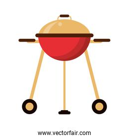 Bbq grill with wheels isolated