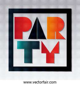 Abstract party poster design