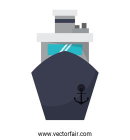 Freighter ship boat frontview symbol