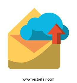 Email and cloud computing symbols