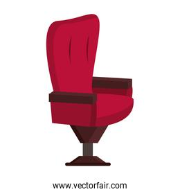 Cinema chair furniture isolated