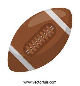 American football ball sport isolated